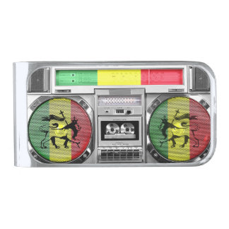 boombox reggae verzilverde geldclip