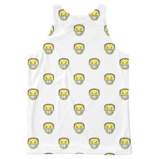 Boos Grafisch Patroon Emoji All-Over-Print Tank Top
