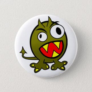 Boos Groen Monster Ronde Button 5,7 Cm