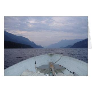 Boot die op het Meer drijven Briefkaarten 0
