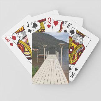 boot dok bij Groot Meer in Colorado Pokerkaarten