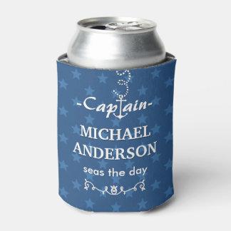 Boot Kapitein Nautical Anchor Custom Name | Blauw Blikjeskoeler