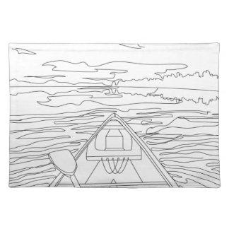 Boot op het meer placemat
