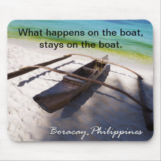 Boot op het Strand Boracay Filippijnen Mousepad Muismatten