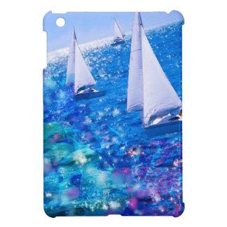 Boot, zee en koralen iPad mini cover