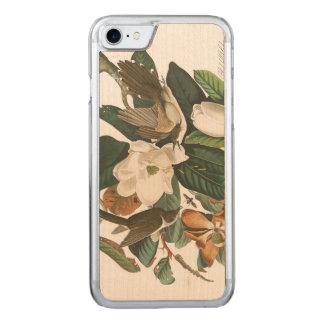 Bord 32 van Audubon zwart-Gefactureerde Koekoek Carved iPhone 8/7 Hoesje