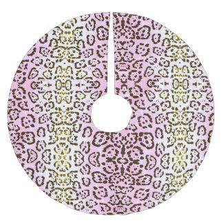 Bord - de roze Dierlijke Druk van de Kat van het Kerstboom Rok