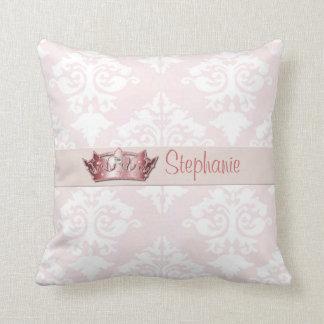 Bord - de roze Prinses van het Damast werpt Sierkussen