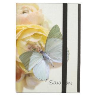 bord - groene vlinder op bloemen iPad kickstand iPad Air Hoesje