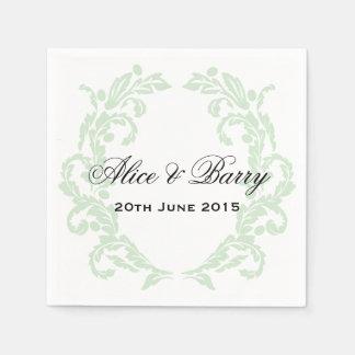 Bord - het groene Servet van het Huwelijk van de Papieren Servetten