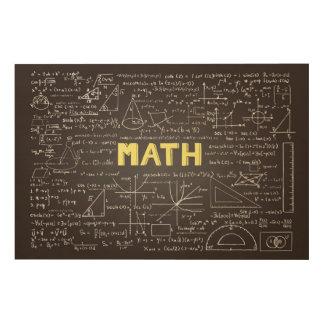 Bord met Art. van de Muur van wiskundeelementen Hout Afdruk