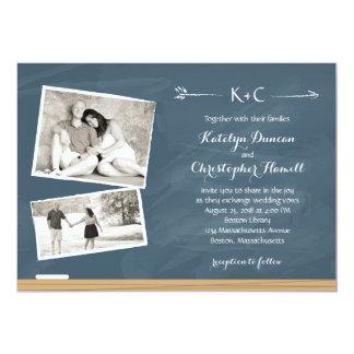 Bord met Foto's | Huwelijk 12,7x17,8 Uitnodiging Kaart