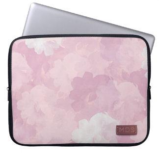 Bord - roze Laptop van de Rozen van de Waterverf Laptop Sleeve