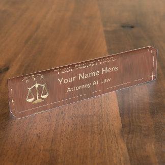 Bord van de Naam van de Procureur van het monogram