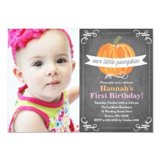 Bord Weinig Verjaardag van de Pompoen 12,7x17,8 Uitnodiging Kaart