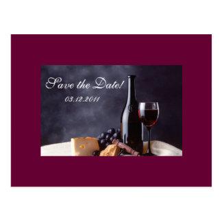 Bordeaux bewaart de Datum Briefkaart