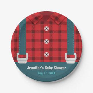 Borden van het Baby shower van het Denim van de Papieren Bordje