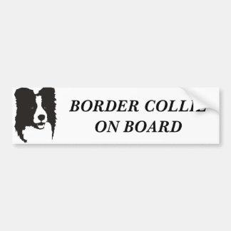 Border collie aan boord bumpersticker