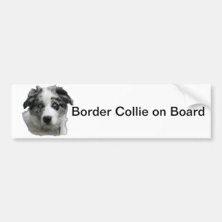 Border collie bumpersticker