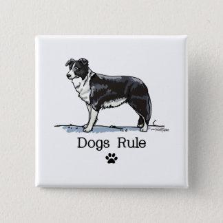 Border collie - hondenregel vierkante button 5,1 cm