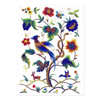 Borduurwerk van de Paradijsvogel van Beautful het Briefkaart