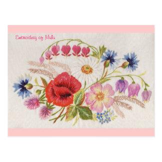 Borduurwerk van Muhu Briefkaart 1