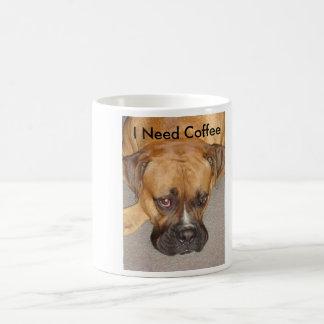 bored bokser, heb ik Koffie nodig Koffiemok