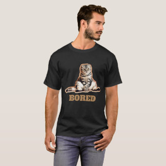 Bored T-shirt van het Mannen van de Kat
