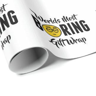 Boring Grappige Nieuwigheid Emoji van werelden de Inpakpapier
