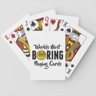 Boring Grappige Nieuwigheid Emoji van werelden de Speelkaarten
