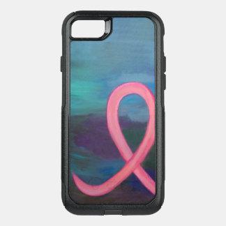 Borst-kanker Technologie   Gewaagd Roze Modern OtterBox Commuter iPhone 7 Hoesje