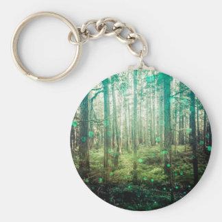 Bos Bomen - in het Patroon van het Bos Sleutelhanger