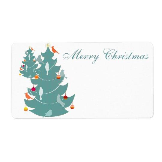 Bos Kerstmis Etiket