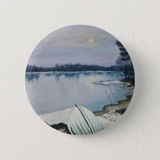 Bos meer ronde button 5,7 cm