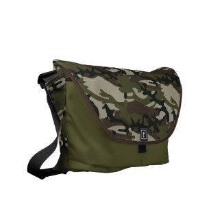Bos Militair Patroon Camo Courier Bags