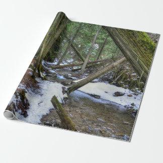 Bos Slepen die binnen, Canada BC lopen Inpakpapier