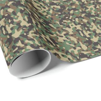 Bos Tan Groene Zwarte Militaire Camouflage Camo Inpakpapier