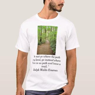 """bos trai, """"gaat niet waar de weg… t shirt"""