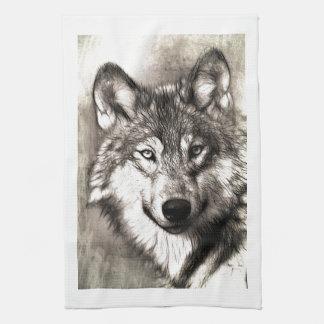 Bos van de Natuur van de Dieren van de Wolf van Theedoek