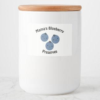 Bosbessen Voedselcontainer Etiket