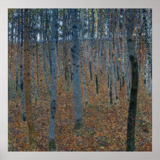 Bosje I van de beuk door Gustav Klimt Poster