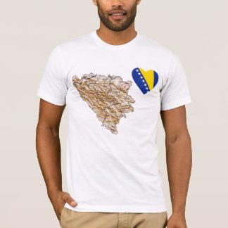 Bosnia - van Herzegovina het Hart van de Vlag en T Shirt