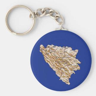 Bosnia - van Herzegovina Kaart Keychain Sleutelhanger