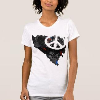 Bosnia - van Herzegovina Trendy Teken van de Vrede T Shirt
