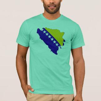 Bosnia - van Herzegovina vlagkaart T Shirt
