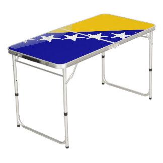 Bosnische glanzende vlag beer pong tafel