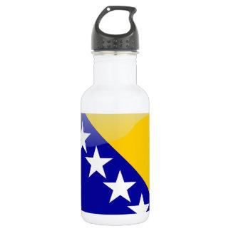 Bosnische glanzende vlag waterfles