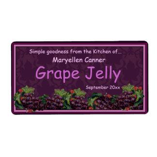 Bossen van Druiven voor de Kruiken van de Jam of Etiket