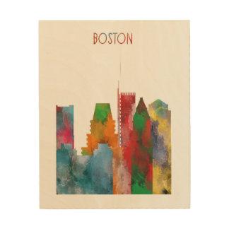 Boston Hout Afdruk