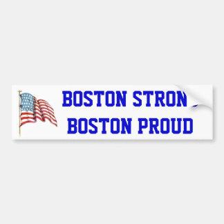 Boston Sterk Boston Trots met de Amerikaanse Vlag  Bumpersticker